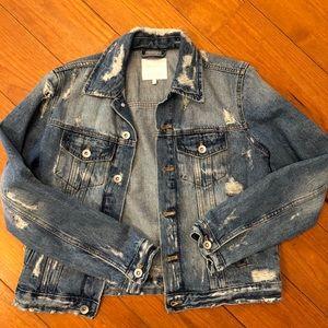 Destroyed Zara jean jacket